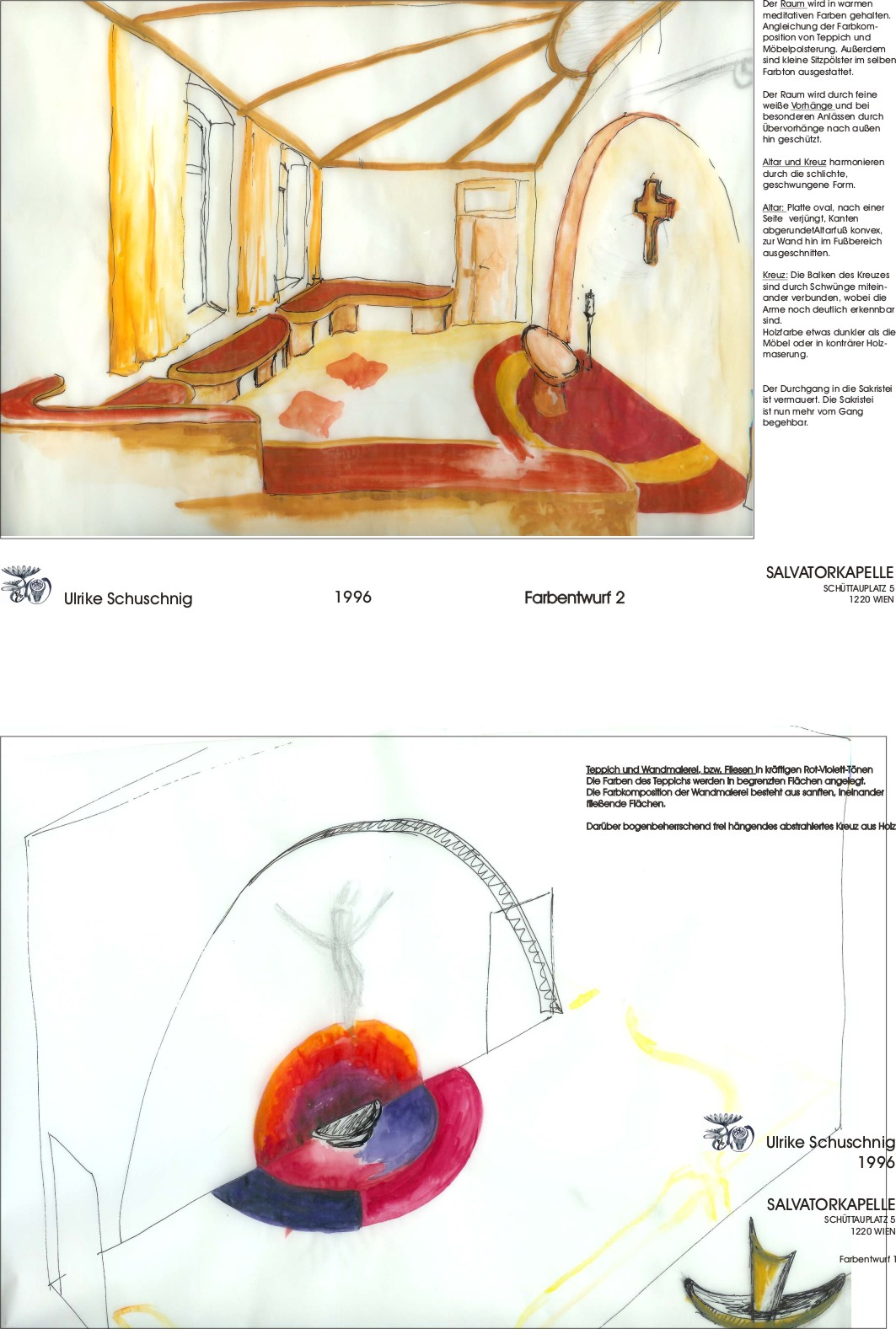Kapelle - Farbentw 1 und 2