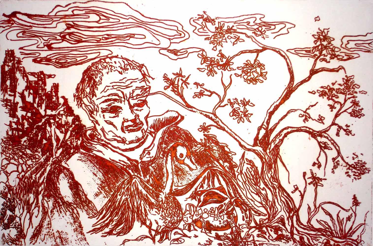 Freundschaft 1994_Ätzradierung_21x30 cm