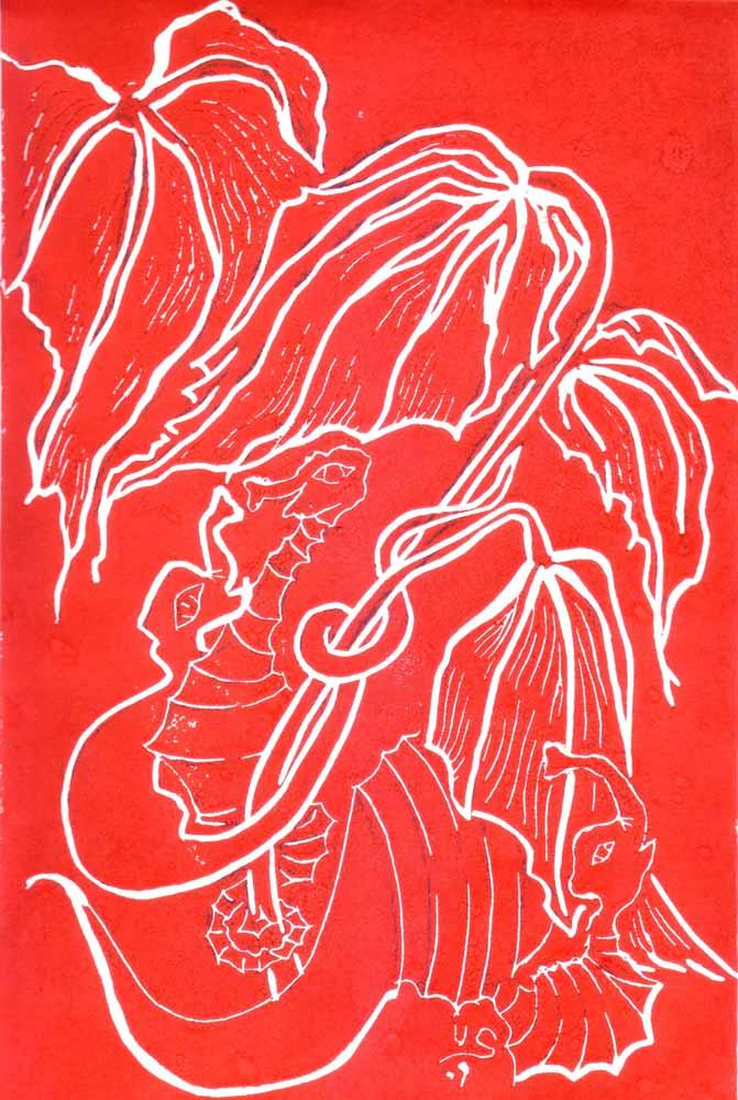 Seepferdchen_Linoldruck_21x30cm