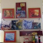 Präsentationswand - Malereien