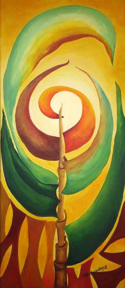 Erfülltes Leben_2012_Die Mitte des Universums_Acryl_40x80