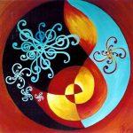 Malen aus dem Unbewussten_1996 Melodie und Rhythmus_Acryl_50x50