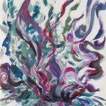 VII. Bruckner Synfonien_Farbmelodien_1_Brodeln_1996_Musikal Grafik_Acryl_Leinwand_50x60