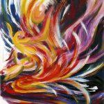 VII. Bruckner Synfonien_Farbmelodien_2_Gestalten formen sich_1996_Musikal Grafik_Acryl_Leinwand_50x60