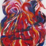 VII. Bruckner Synfonien_Farbmelodien_4_Gefesselt_1996_Musikal Grafik_Acryl_Leinwand_50x60