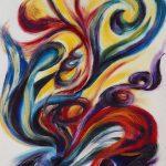 VII. Bruckner Synfonien_Farbmelodien_5_Befreiung_1996_Musikal Grafik_Acryl_Leinwand_50x60