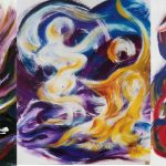 VII. Bruckner Synfonien_Farbmelodien_ges_1996_Musikal Grafik_Acryl_Leinwand_50x60